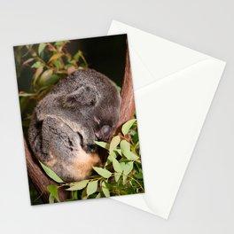 Koala sleeping Stationery Cards