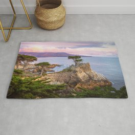 Lone Cypress Spring Sunset Rug
