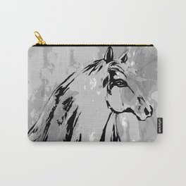 HORSE BLACK AND WHITE Carry-All Pouch