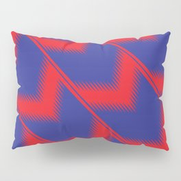 Red and blue diagonal pattern Pillow Sham