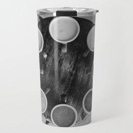 Coffee Circle (Black and White) Travel Mug