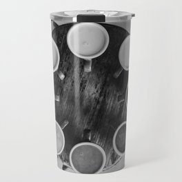 Coffee Circle (Black and White) Travel Mug