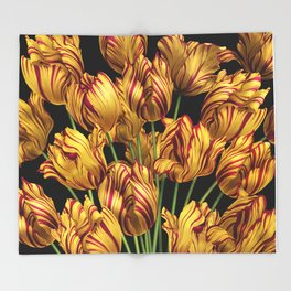 Royal Sovereign Tulips bouquet. Throw Blanket