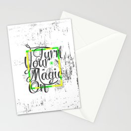 Turn Your Magic On Stationery Cards