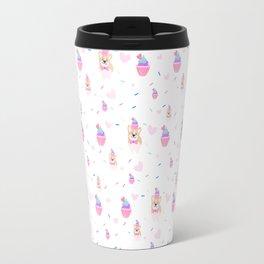 cupcake and corgi Travel Mug