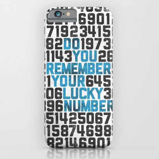 Do You Remember Your Lucky Number? iPhone & iPod Case