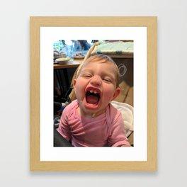 Smiling Kid Framed Art Print