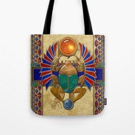 Sarcophagus 3d Egyptian Folk Art Tote Bag