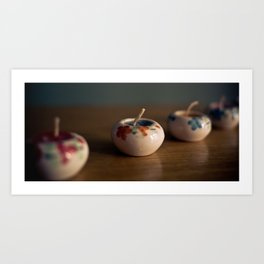 Four candles Art Print