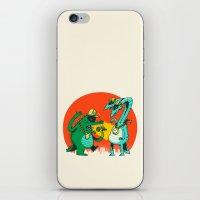 rap iPhone & iPod Skins featuring Kaiju Rap Battle by Morkki
