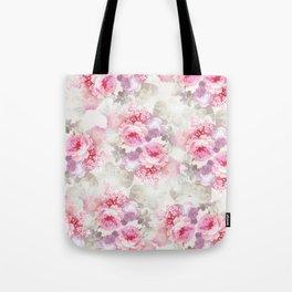 Elegant blush pink lavender ivory romantic roses floral Tote Bag