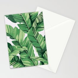 Tropical banana leaves V Stationery Cards