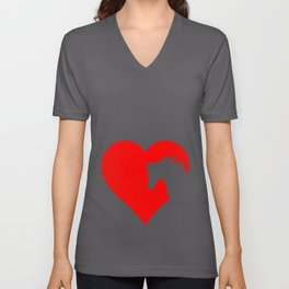 Horse Heart Design For Horse Lovers design Unisex V-Neck