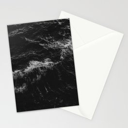 Dark Ocean in Black and. White Stationery Cards