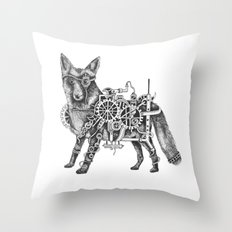 Foxley-Norris the Steampunk Fox Throw Pillow