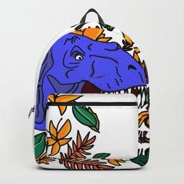 Bright Blue Dinosaur Backpack