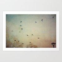 wings Art Prints featuring Wings by Stella Ortiz