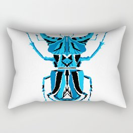 Stag Beetle _ Psychedelic bug 3.2 _ Besouro Independente Rectangular Pillow