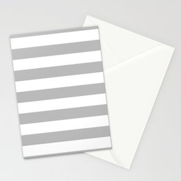 Gray and White Stripes Stationery Cards
