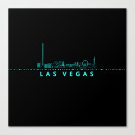 Digital Cityscape: Las Vegas, Nevada Canvas Print