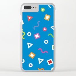 Cobalt Play Clear iPhone Case