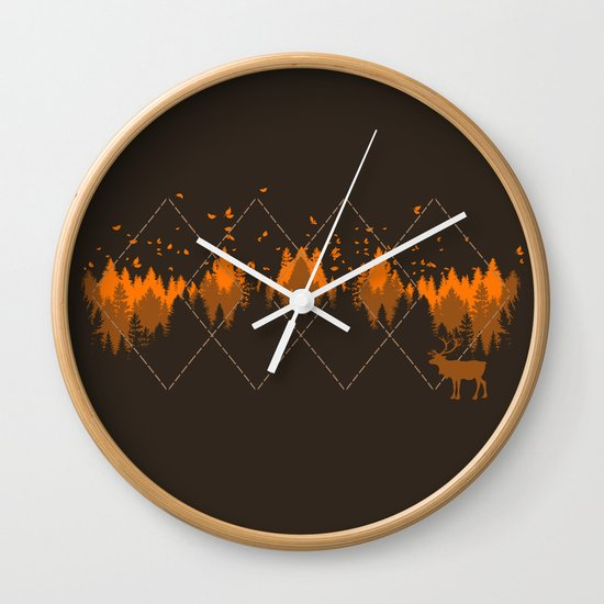 Tradicional Nature Pattern Wall Clock