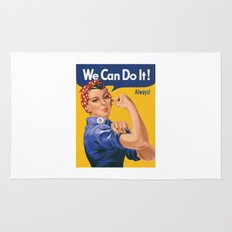 We Can Do It! Always! Rug