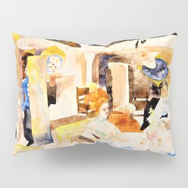 Lulu and Alva Schon at Lunch - Digital Remastered Edition Pillow Sham