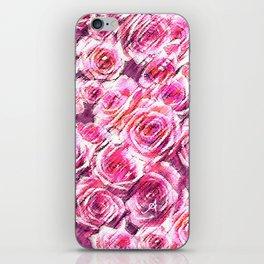 Textured Roses Pink Amanya Design iPhone Skin