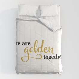 WeAare Golden Together Comforters