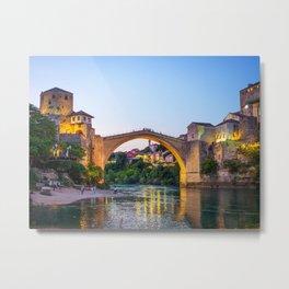 Stari Most, Mostar, Bosnia and Herzegovina Metal Print