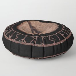 Thurisaz - Elder Futhark rune Floor Pillow