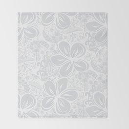 Maui Polynesian Silver Wedding Throw Blanket