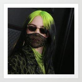 billie masker black 2021 Art Print