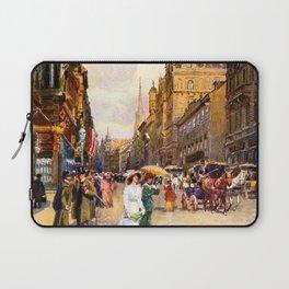 Great vintage belle epoque scene Vienna Austria  Laptop Sleeve