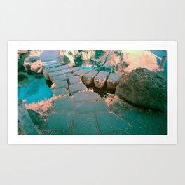 Stone Bridge at the Japanese Gardens, San Francisco Art Print