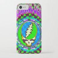 grateful dead iPhone & iPod Cases featuring Grateful Dead #9 Optical Illusion Psychedelic Design by CAP Artwork & Design