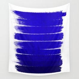 Shel - abstract painting painterly brushstrokes indigo blue bright happy paint abstract minimal mode Wall Tapestry