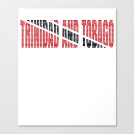 Trinidad And Tobago Flag Vintage Trinidadian National Country Gift Canvas Print