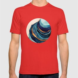 Abstract Blue with Gold T-shirt