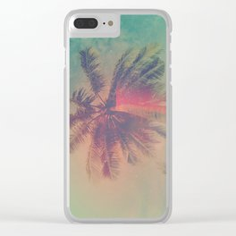 NEON SUMMER Clear iPhone Case