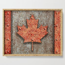 Rusty Maple Leaf. Serving Tray