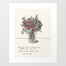 This Drawing of Some Flowers Art Print
