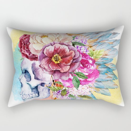Skull 09 Rectangular Pillow