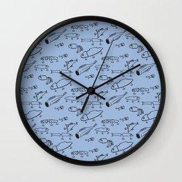 Hand drawn lures Wall Clock