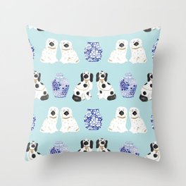 Staffordshire Dogs + Ginger Jars No. 7 Throw Pillow