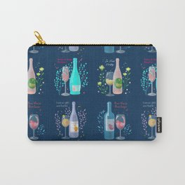 Four Wine Cats <navy> Carry-All Pouch