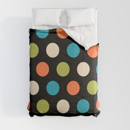 Colorful Mid Century Modern Polka Dots 577 Comforters