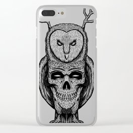 Skull owl tatto Clear iPhone Case