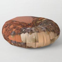 Study of textures and terra cotta Floor Pillow